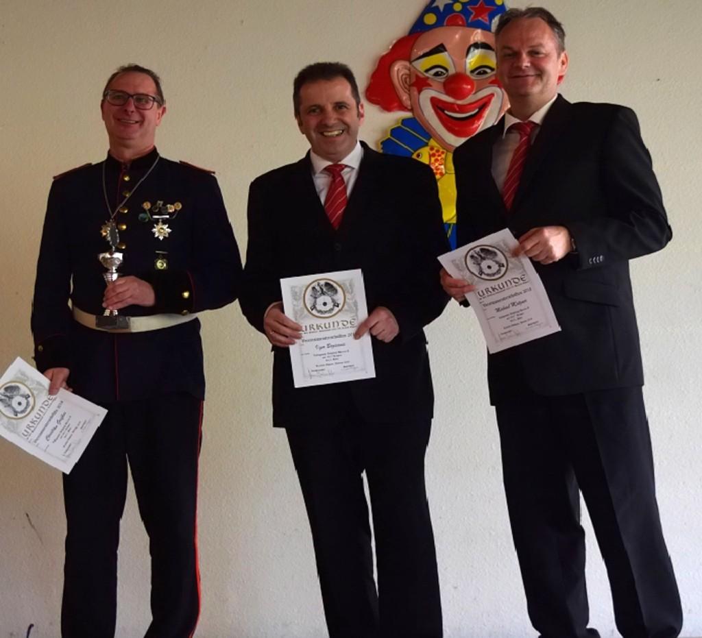 Die Verisnmeister in der Altersklasse der Herren: Christian Grefkes (1. Platz), Igor Bozicevic (2. Platz) und Michael Motzner (3. Platz)