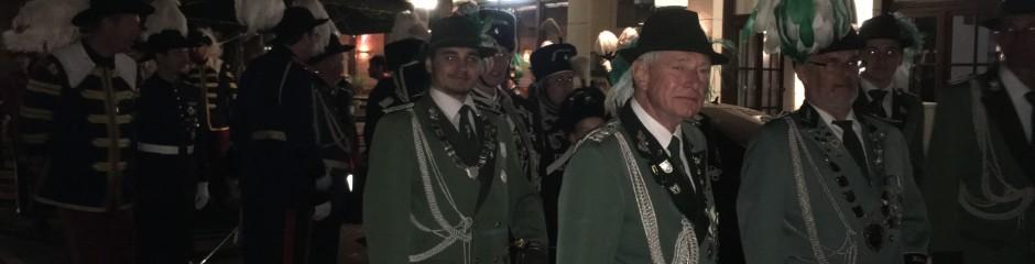 Oppumer Schützen nahmen beim Großen Zapfenstreich teil